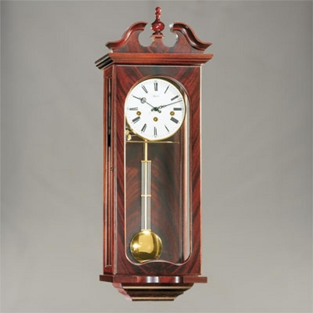 """Wall Clock - """"Waterloo"""" - 4/4 Chime - Mahogany Finish - Hermle"""