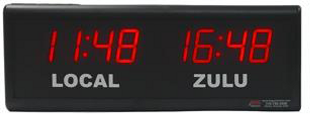 BRG TZ202  Dual Time Digital Clock with vinyl place names of your choice.