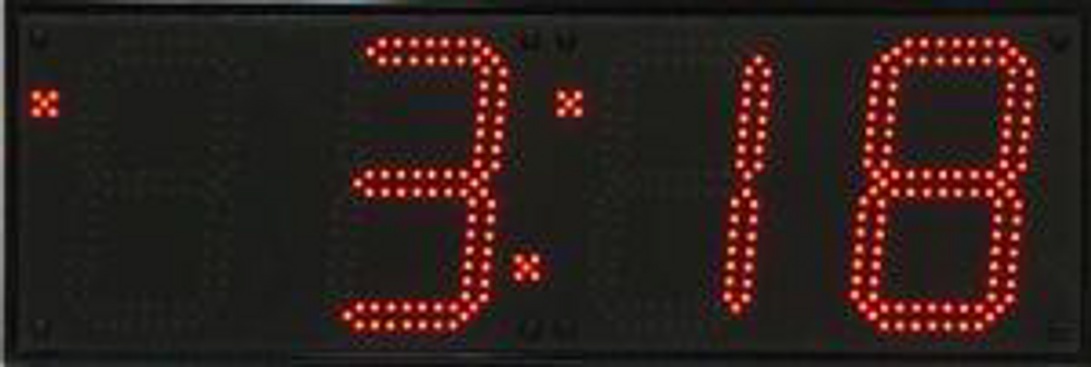 """BRG WX480U Huge Outdoor  LED Digital Clock. 6 x  8"""" High Digits (20cm High Digits). 220V/50HZ power for Australia, Ethernet connection to  a time server over the internet. User changeable colour LED's."""