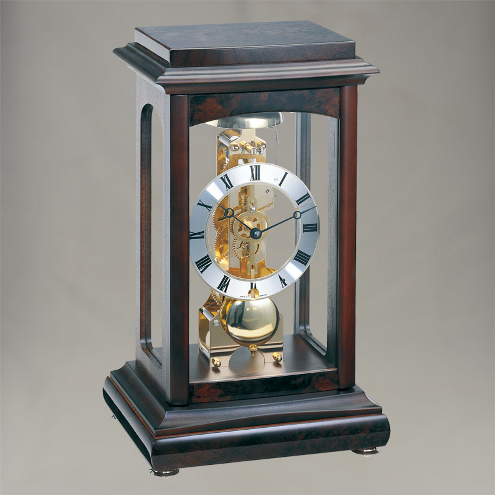Winchester skeleton clock in Walnut/Chocolate finish