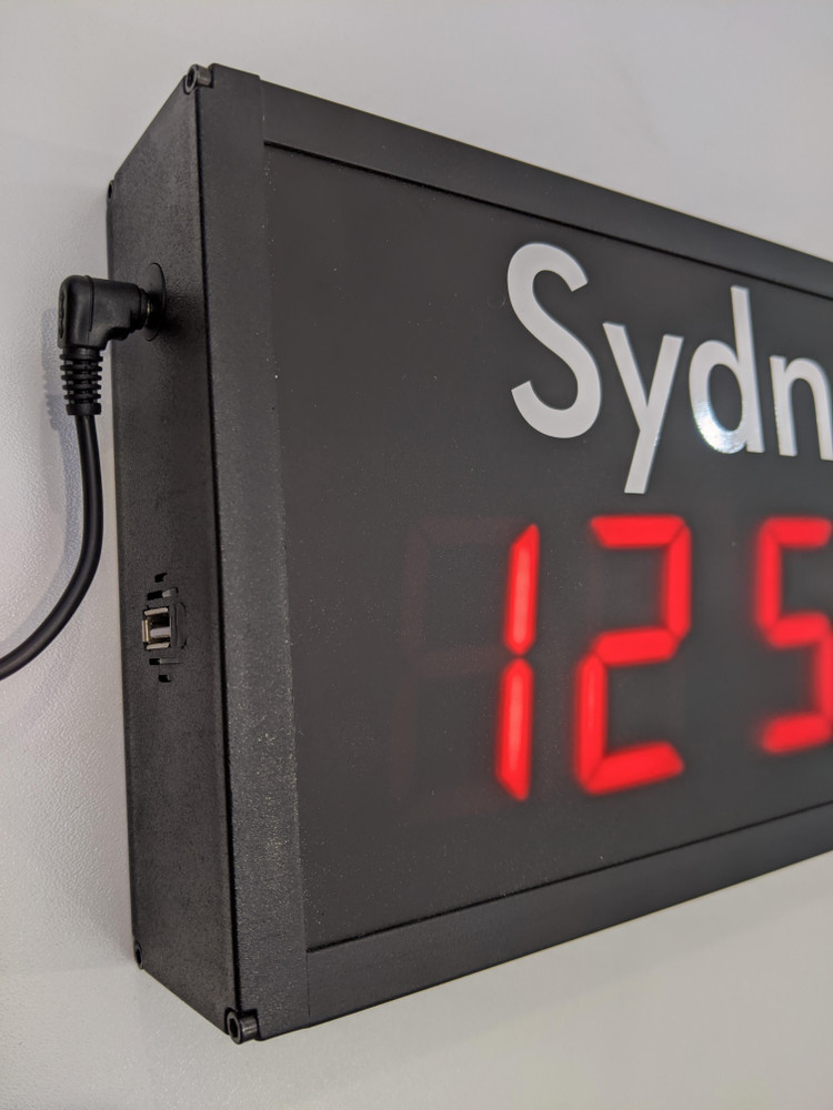 SCC23 4 x Zone World Time Clock (LH side power and USB port)