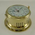 Ships Clock - Quartz Time & Tide - Solid Brass - H.B & Sons