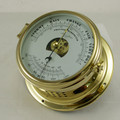 Ship's Barometer / Thermometer - Mechanical - Solid Brass - H.B & Sons