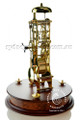 Mantel Clock - Brass Finish with Mahogany Base - Hermle