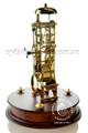 Mantel Clock - Brass Finish with Mahogany Base - Hermle