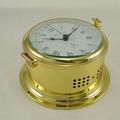Ships Clock - Quartz Ships Bell - Solid Brass - Hermle