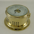 Ships Barometer/Thermometer - Solid Brass - H.B & Sons