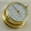 Hermle ships barometer and thermometer.