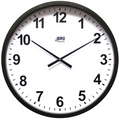 "DuraTime 22"" Analog Clock. Black. Contact us for advice and prices."