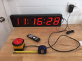 SCC20 UP/DOWN Clock and timer with  - BIG RED BUTTON