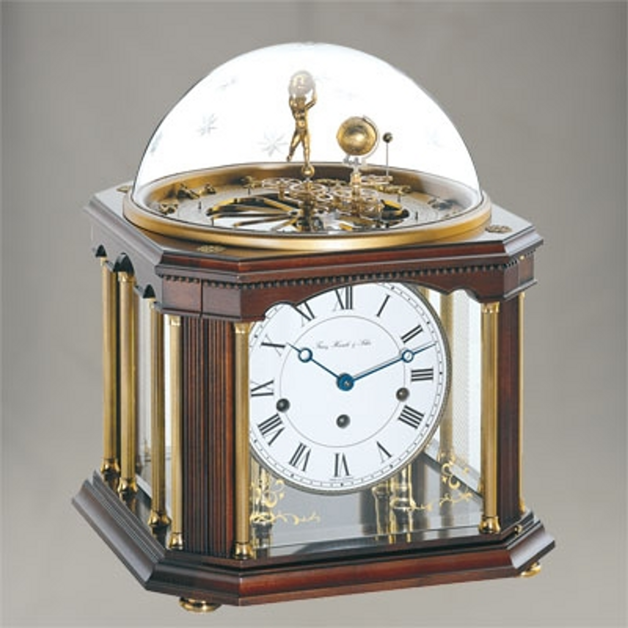 Tellurium III Chiming Mantel Clock - Month/Zodiac/Westminster Chime - Hermle