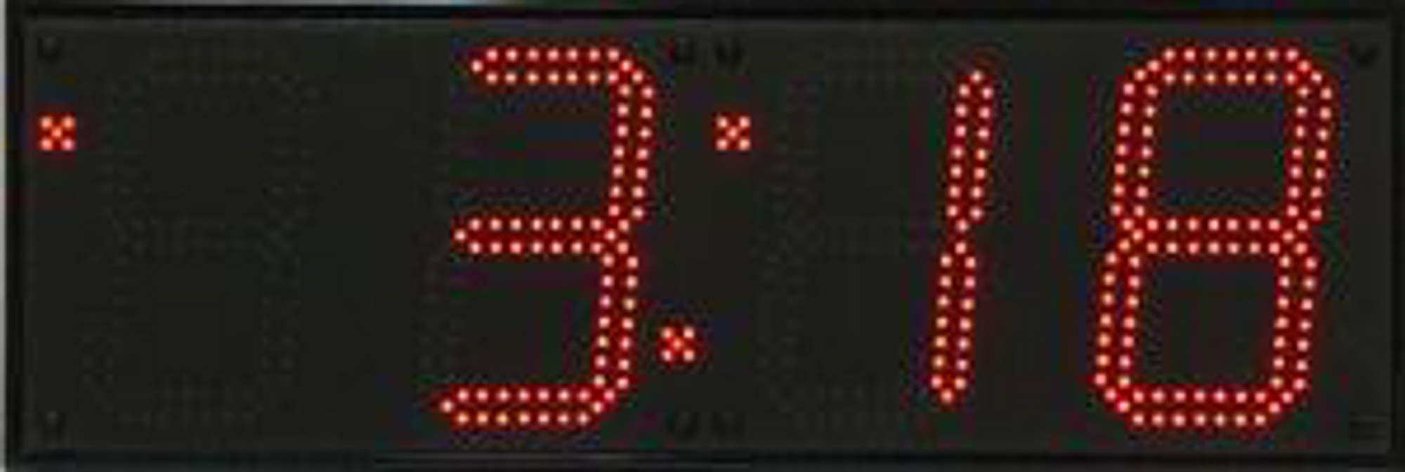 Huge Outdoor 4 Digit Synchronized Digital Clock The Sydney Clock Company