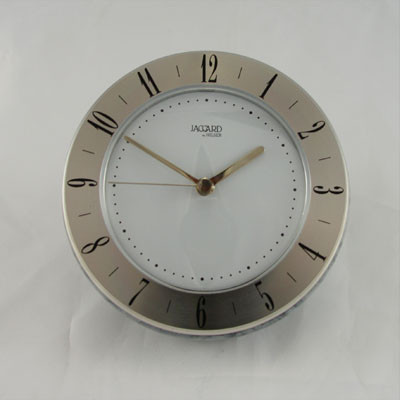 Jaccard  Grey/Silver  WJ.240210.2A Desk Clock