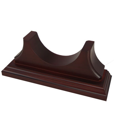 Single solid timber mount in Mahogany