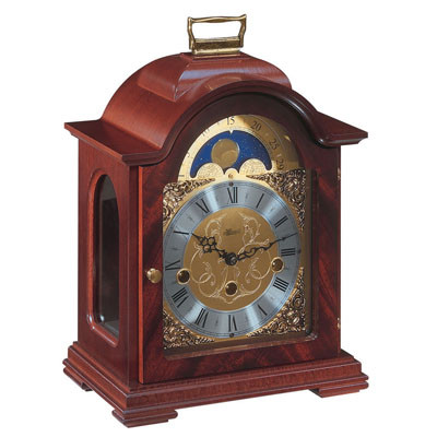 Debden Mantel Clock - Westminster Chime with Mahogany Finish - Hermle