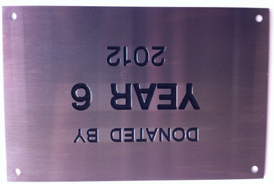 15 x 10 cm Presentation Wall Plaque - Stainless steel