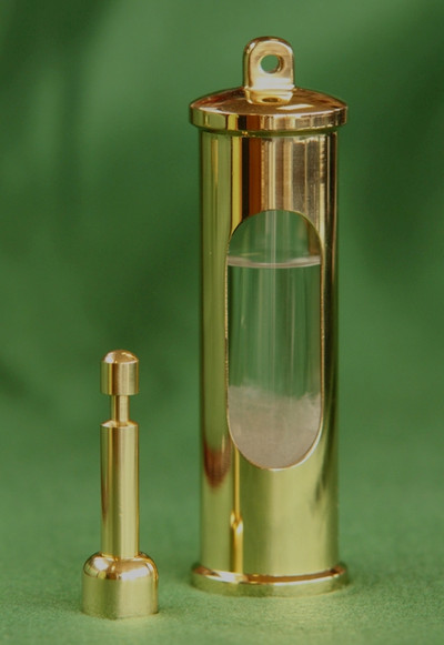 Stormglass Barometer in Polished Brass.