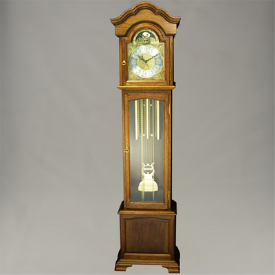 Floor Clock - 4/4 Chime - Hardwood - Walnut Finish - HB & Sons
