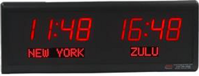 BRG TZ212  Dual Time Digital Clock with Dot Matrix place names of your choice.