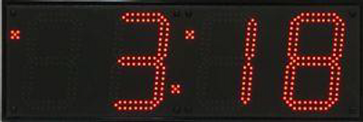 "BRG WX480U Huge Outdoor  LED Digital Clock. 6 x  8"" High Digits (20cm High Digits). 220V/50HZ power for Australia, Ethernet connection to  a time server over the internet. User changeable colour LED's."