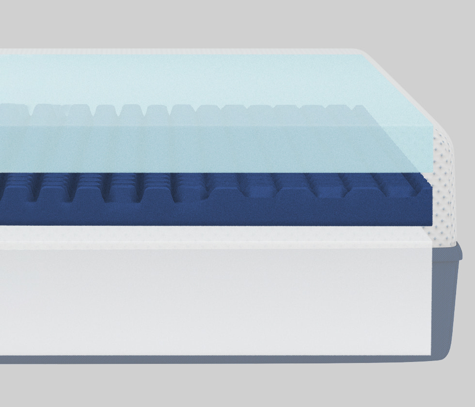 Amerisleep AS3 mattress layers