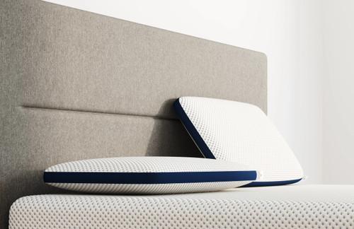 Dual Comfort Pillows on AS Mattress sideview