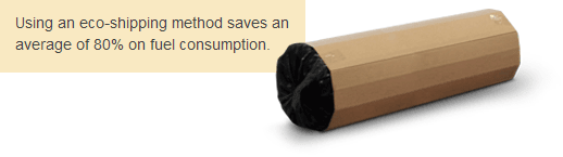 Using an eco-shipping method saves an average of 80% on fuel consumption