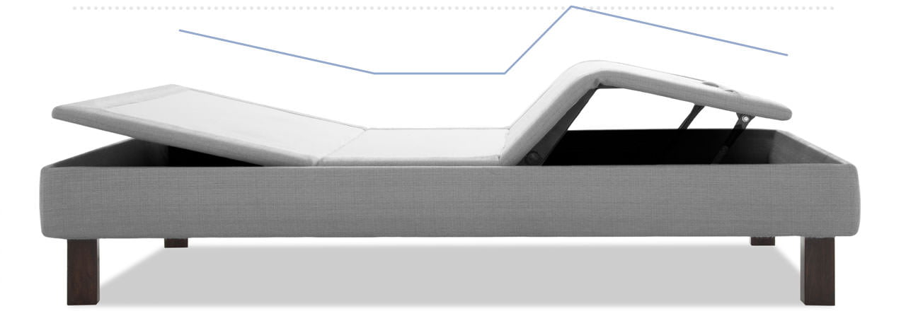 Amerisleep Adjustable Bed positioned in the zero gravity position
