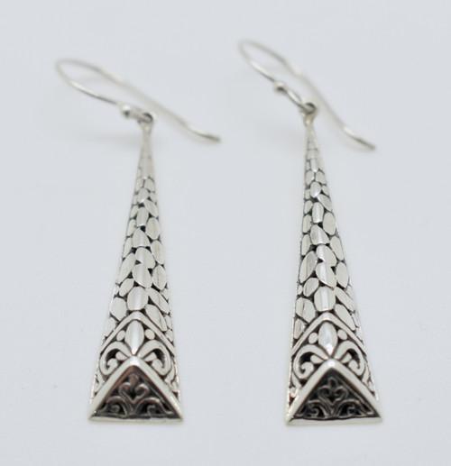 Long triangular Filigree earrings