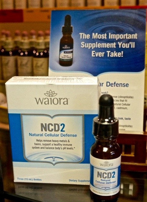 Waiora NCD2 Zeolite 1 Bottle - Easily Remove Heavy Metals, Chemicals, and Toxins From Your Body Naturally