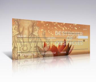 Ganesha GOLD Divine Power Checkbook