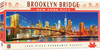 Beautiful Brooklyn Bridge and New York City skyline. Contents: 1000 piece puzzle Puzzle Size: Finish 13 inch x 39 inch puzzle Feature: Amazing Panoramic Scene over 3ft wide. Feature: Quality thick pieces ensure a tight interlocking fit.