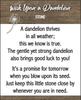 Dandelion Pocket Stone