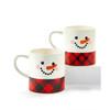 Plaid Snowman Mug