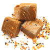 Fall's signature flavor- pumpkin spice! Cinnamon, nutmeg, ginger, clove, & allspice flavor this rich brown sugar based fudge, swirled with spiced vanilla fudge and topped with autumn sprinkles. Festive and delicious!