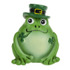 "Lucky frog is an adorable St.Patrick's Day memento, but can also hide in your plant or pocket to bring luck all year long. Comes with sentiment card that reads: This friendly little frog brings lots of happiness and cheer; but that's not all he does so be sure to keep him near. We all know frogs bring good luck. This frog carries shamrocks too, Just keep this little guy by your side and twice the luck will come to you."" Sold individually."