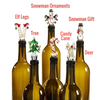 LED Glass bottle stopper for wine in 6 different designs