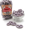 Salty pretzels and blueberry yogurt coating, an excellent combination.