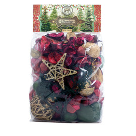 The scent of our Potpourri will grace any room in the house. The ingredients are natural. The look is dramatic. DETAILS Weight: 9 oz. / 255 g. SCENT Wintry spruce with base notes of dry amber, toffee, and moss
