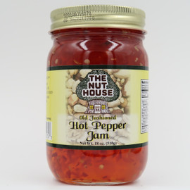 """You owe it to yourself to try the old-fashioned taste of  Hot Pepper Jam (18oz) that is """"Just Naturally Good."""" It is 100% all-natural with no artificial colors or sweeteners. The delicious flavor floats out of the jar!"""