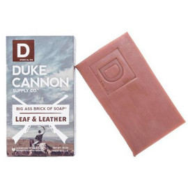 Duke Cannon would rather explore the Great Plains on horseback than navigate the parking lot of an outlet mall in a compact car. It's in the Great Wide Open, about 1000 miles from the nearest food court, where a light breeze carries the scent of old leather mixed with fresh rolled tobacco leaves. Take a trip back in time when a nice, masculine scent didn't involve citrus fruits or flowers, and experience this American-made soap inspired by leaf and leather.  Part of the Great American Frontier Collection from Duke Cannon. Because the outdoors smell nice.   Product Specs:  - Triple milled for superior quality  - At 10 oz., it's 3x the size of common bar soaps - Made in USA