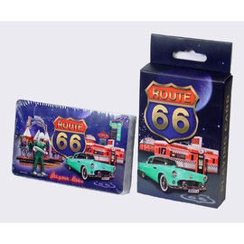 Route 66 Retro Collage Regular Size Playing Cards