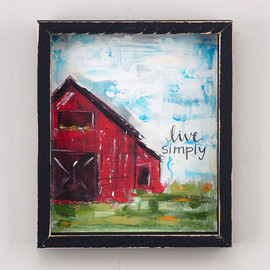 "This rustic framed canvas is a beautiful way to portray the beauty of the simple life! Complement your kitchen, living room or any wall in your house! Measures 9.5"" x 11.5"""
