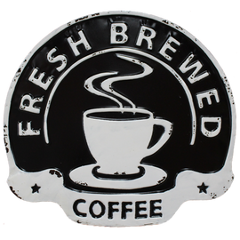 Fresh Coffee Black/White Sign