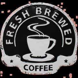 Fresh Coffee Black/White Sign
