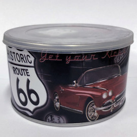 This 100 piece Route 66 puzzle comes with a holding tub.