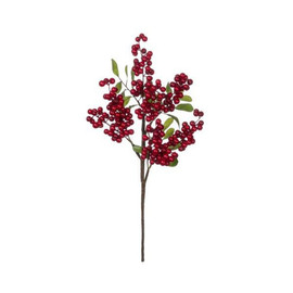 "Bring your interior space to life with a touch of lasting nature. This faux berry is the perfect way to add deep, magnificent color to arrangements, centerpieces, wreaths, and so much more. How ever you use this piece, it's sure to add texture and interest, making it a must-have for designers. Dimensions:	8.5""L x8.5""W x18""H Weight:	2.30oz"