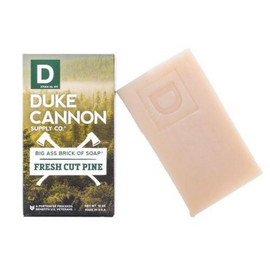 "Duke Cannon does not require the rich aroma of a $7 cappuccino to get him going in the morning, and he doesn't need comfy fashion boots to stay ""cozy."" Instead, Duke Cannon finds inspiration and warmth in hard work, like a morning spent chopping wood in the solitude of a pine forest. Experience the invigorating scent of fresh split pine and celebrate a return to basics with this American made soap inspired by the lush green wilderness of the Pacific Northwest.  Part of the Great American Frontier Collection from Duke Cannon. Because the outdoors smell nice.  Product Specs:  - Triple milled for superior quality  - At 10 oz., it's 3x the size of common bar soaps - Made in USA  1 10 oz. brick, or save with a 3 or 6-pack."