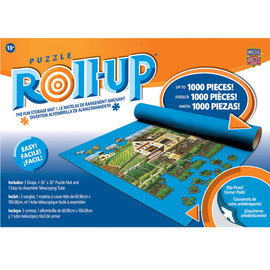 "Puzzle Roll Up - Standard 30""x36"" - Perfect for puzzles up to 1,000 pieces. Fun and worry-free way to store your unfinished project to return to and complete it at your own leisure. Roll-up Felt Puzzle Mat, Three (3) Strong tubes & Three (3) Secure Velcro Straps Felt Mat Size:36 inch x 30 inch, Fits 1000 piece puzzle Feature:Slip-proof corner pads make sure the Felt Mat never slides."