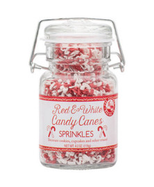 Beautiful Red & White Candy Cane Sprinkles will make any of your Holiday Baked Goods vibrant with Holiday Cheer!